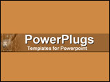 PowerPoint Template - earthy bar and sheep on lighter earth background