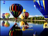 PowerPoint Template - Hot air ballooning mass ascension reflection