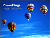 PowerPoint Template - Hot air balloons against blue sky International Balloon Festival Albuquerque New Mexico