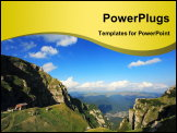 PowerPoint Template - Alpine landscape in Bucegi Mountains, Romania, Europe