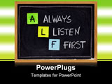 PowerPoint Template - LF acronym (always listen first) - good advice for training counselling customer service selling or