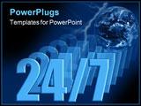 PowerPoint Template - 24/7 - globe lightning darkness illustration - always open