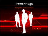 PowerPoint Template - futuristic hi-tech business concept