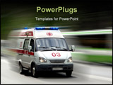 PowerPoint Template - The ambulance car hastens for the aid
