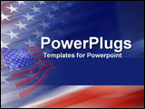 PowerPoint Template - A proud emblazining of the red white and blue stars and stripes