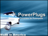 PowerPoint Template - An American utility  complete with fat tires  mags and supercab
