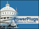 PowerPoint Template - The White House stands tall  respected and proud
