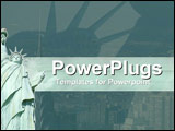 PowerPoint Template - Statue of Liberty standing tall and proud over New York