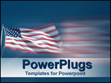 PowerPoint Template - The American flag flying proudly