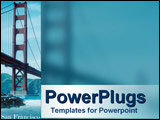 PowerPoint Template - San Francisco icon - the Golden Gate bridge