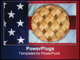 PowerPoint Template - nothing can be more american than the flag and apple pie