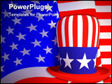 PowerPoint Template - Symbol of the United States of America a hat of the uncle sam