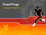 PowerPoint Template - American Football runing man (wallpaper background logo...)