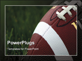 PowerPoint Template - american football on grass