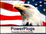 PowerPoint Template - Bald Ealge with American Flag