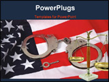 PowerPoint Template - flag and handcuffs