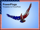 PowerPoint Template - Concept image of an American eagle with the American flag would be good for July 4th.