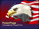 PowerPoint Template - us patriotic theme - high detailed vector illustration - bald eagle and us flag