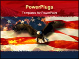 PowerPoint Template - This is an American Flag with bald eagle background