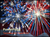 PowerPoint Template - fireworks displayed over the american flag