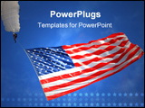PowerPoint Template - american flag flying in the blue sky and parachute above