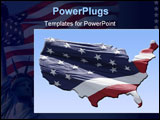 PowerPoint Template - United states map with real flag overlay ready for you to use.