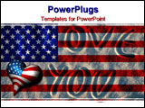 PowerPoint Template - america flag