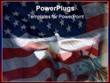 PowerPoint Template - Flying Dove on American Flag.