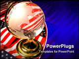 PowerPoint Template - a globe with american background