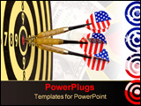 PowerPoint Template - Target and darts isolated on white background