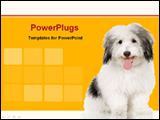 PowerPoint Template - dog with yellow background