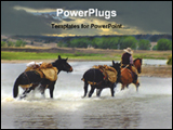 PowerPoint Template - running horses in water