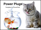 PowerPoint Template - cat watching fish in a aquarium