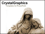 PowerPoint Template - Statue of ancient pieta.