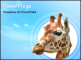 PowerPoint Template - image of a giraffe