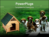 PowerPoint Template - group of dogs