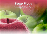 PowerPoint Template - Macro image of a red apple. Great shoot ** Note: Slight blurriness, best at smaller sizes