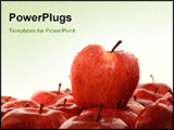 PowerPoint Template - A red apple on the other apple.