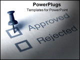 PowerPoint Template - word accepted and rejected on a paper with a push pin