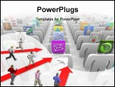 PowerPoint Template - any people with app tiles for heads stand in rows symbolizing the vast selection of the online soft