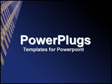 PowerPoint Template - Upward look at clear blue sky and scraper