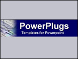 PowerPoint Template - Drafting tools set in energetic cobalt and cool gr