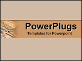 PowerPoint Template - Drafting tools set in cool earth tones