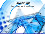 PowerPoint Template - blue architect tools