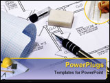 PowerPoint Template - various drafting related items.