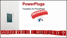 PowerPoint Template - Concept Are you Insured on white background. High quality render