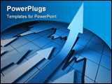 PowerPoint Template - 3d business background image arrown on stat