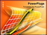 PowerPoint Template - Results improvement: two arrows pointing up. Digital illustration.