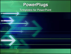 PowerPoint Template - computer generated abstract background with blurred arrows