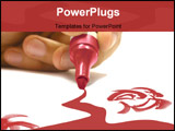 PowerPoint Template - red marker drawing on a piece of paper